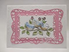 craftieodamae: Fluffy Birds Die Cut Card