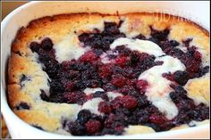 Blackberry Cobbler! On the menu for tonight!