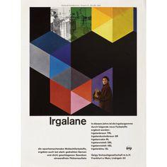 Irgalane, 1954  Design: Karl Gerstner