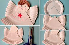 Voici un tuto ultra simple réalisé par cabane à idées, il vous suffira d'une simple assiette en carton pour fabriquer ce petit ange décoratif. Une activité ludique pour les enfants ! Il vous faudra : Une assiette en carton Une paire de ciseaux De la colle Des crayons, feutres ou de la peinture