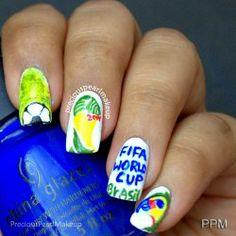 FIFA World Cup 2014 Inspired Nails | preciouspearlmakeup