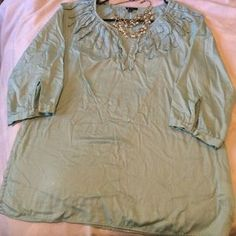 I just added this to my closet on Poshmark: Talbots Embellished Collar Light Mint Blouse. Price: $10 Size: S