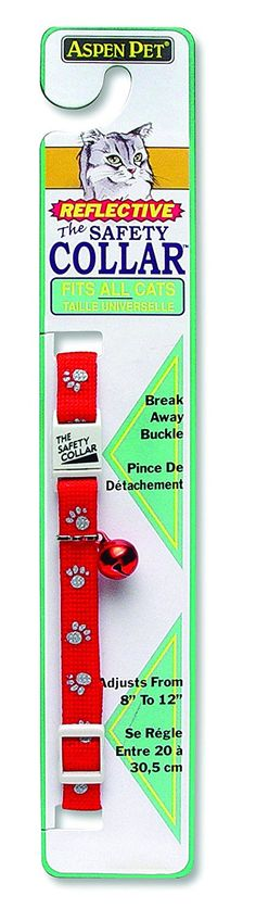 ASPEN PET PRODUCTS 0322402 Breakaway Reflective Paw Cat Collar, Red >>> Find out more about the great product at the image link. (This is an affiliate link and I receive a commission for the sales)