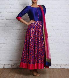 Kurta Designs, Blouse Designs, Long Frocks For Girls, Long Gown Dress, Prom Dress, Anarkali Dress, Anarkali Suits, Dress Neck Designs, Saree Styles