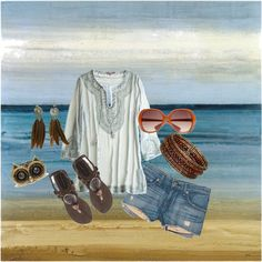 Just Beachy, created by shannon-browning-aubill on Polyvore