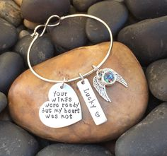 """Your Wings Were Ready But My Heart Was Not Pet Memorial Bracelet 
