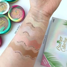 Swatches of Physicians Formula Butter Collection Palette in Light/Medium and Medium/Deep- lapetitechicmommy