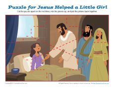 Jesus Helped a Little Girl Jigsaw Puzzle