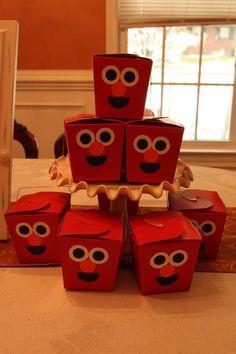 Elmo party boxes