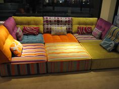 Tapas - 6 modules to make a really decadent 'seating pit' and occasional sofa bed by taking the back cushions off.