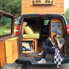Sarah and Matt @thebuslife using the back door for good reason. Thanks for sharing guys. #vanlifediaries we love your journey.jc by vanlifediaries