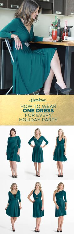 How to wear one dress for every holiday party - choose a dress that you can wear in dozens of styles! Accessorize with different shoes or jewelry and you're ready for celebrating