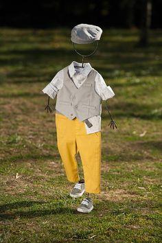 Κοστουμάκια : Βαπτιστικό κοστουμάκι για αγόρι σε Μουσταρδί 038, Angel Wings