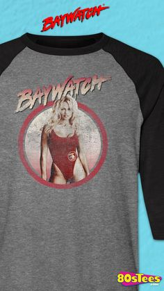 Parker On Beach Adult T Shirt Pam Anderson 1990/'s Baywatch TV Show C.J