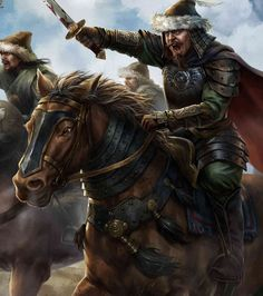 Khublai Khan leading the charge of the Mongol Hordes