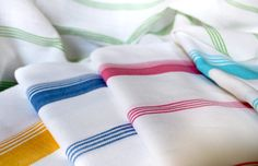 Candy Stripe Bath Towels - Kara Weaves: Fabrics with a social cause