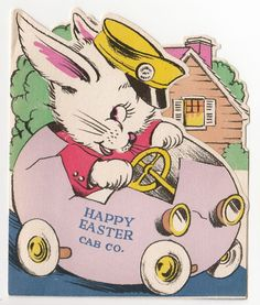 i love cartoon easter bunnies Easter Greeting Cards, Vintage Greeting Cards, Vintage Easter, Vintage Holiday, Easter Art, Easter Decor, Old Cards, Holiday Pictures, Happy Easter