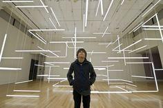 200 Organized Fluorescent Lights Produce Futuristic Space - My Modern Metropolis