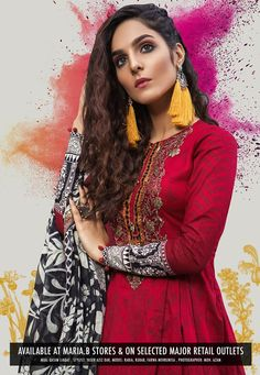 44cd0ee1b6 Prints KALASHA (Unstitched) Eid Collection Truly Original Product Details:  3 Piece Printed lawn shirt Cambric trouser Printed chiffon dupatta  Embroidered ...