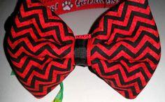 DOG COLLAR & BOWTIE  Georgia Bulldogs by osewdeborah on Etsy