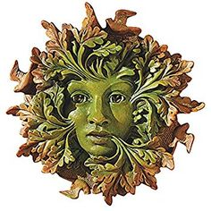 Amazon.com : The Spirit of Nottingham Woods: Greenman Tree Sculpture : Tree Faces : Patio, Lawn & Garden