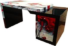 Hand-Painted Lacquer Console