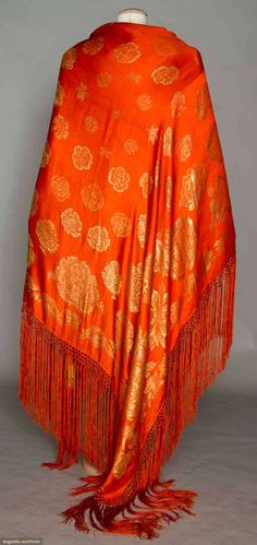 Augusta Auctions, November 2, 2011 NYC, Lot 14: Silk Lame Evening Shawl, 1920-1930