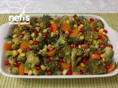 Delicious Broccoli Salad with Lemon Garlic - Salat Turkish Kitchen, Broccoli Salad, Garlic Broccoli, Turkish Recipes, Kitchenette, Diet And Nutrition, Cobb Salad, Salads, Pasta