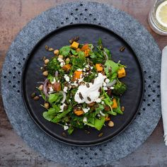 Chickpea Salad with Spiced Chilli Dressing and Tahini Yoghurt