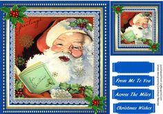 Lovely Singing Santa on Craftsuprint - Add To Basket!