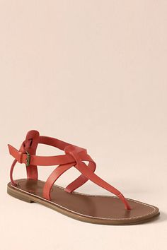 Canvas Womens Corliss Thong Sandals from Lands End