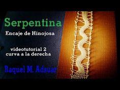 Punto Serpentina Videotutorial2 : Curva a la derecha Encaje de Hinojosa (nivel avanzado) - YouTube Serpentina, Bobbin Lace Patterns, Lace Heart, Lace Jewelry, Needle Lace, Lace Making, Lace Detail, Tatting, Stitch