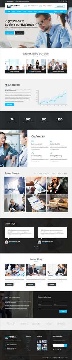 Toprate is clean and modern design 2in1 responsive bootstrap #HTML5 #theme for business #consulting and professional services website to download & live preview click on image or Visit #webdeveloper