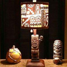 Cool Tiki Lamp and items! Vintage Lighting, Bar Lighting, Tiki Art, Tiki Tiki, Tiki Lights, Tiki Hawaii, Tiki Bar Decor, Tiki Lounge, Vintage Tiki