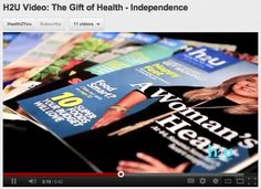 The freedom and independence of good health is a gift at any age. You like knowing how to maximize the best things life has to offer and how to conquer tougher challenges. H2U is all about health and all about you. We deliver the tools you need most to help you take control of your customizable health and wellness plans. To give The Gift of Health to yourself or someone you know, go to H2U.com or call 800.771.0428