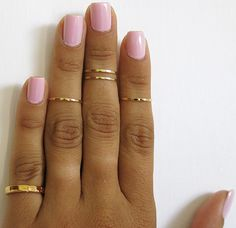 Set of 5 gold knuckle rings, pinky ring, mid knuckle ring, above knuckle ring…