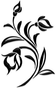 Flowers – Silhouettes – Art & Islamic Graphics Flowers – Silhouettes – A… - Stencil Patterns, Stencil Art, Stencil Designs, Embroidery Patterns, Flower Stencils, Bird Silhouette Art, Silhouette Design, Flower Graphic, Art Floral