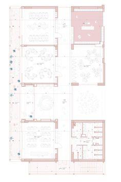Architecture Drawings, Architecture Plan, Architecture Illustrations, Enrico Fermi, Mood Images, Flower Market, Urban Design, Presentation, Floor Plans