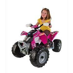 Peg Perego Power Wheels Polaris Outlaw Pink Off Road Kids Ride On Toys Girls Kids Ride On Toys, Toy Cars For Kids, Toys For Girls, Kids Toys, Power Wheel Cars, Power Wheels, Kids 4 Wheelers, Best Outdoor Toys, Outdoor Stuff
