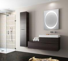 Glide II Wall Hung Tower Unit Wenge in Glide II Wenge | Bauhaus Bathrooms - Furniture, Suites, Basins - Ultimate Bathroom Solutions