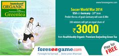 #Predict the no. of goals #Germany will score against #USA on 26th June in #SoccerWorlWar 2014  http://www.foreseegame.com/user/GamePlay.aspx?GameID=ezjnF%2bpV6cDQW37dQlMNgQ%3d%3d