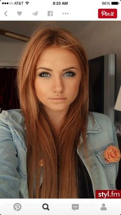 Cute redish brown to dye your hair