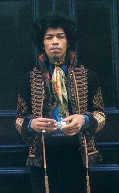 Jimi Hendrix: Didn't Michael Jackson sport jackets like this in the late 80's? Thanks Jimi, for setting the trend for the King of Pop!