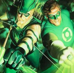 Green Arrow and Green Lantern by Alex Ross