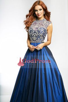 Special Occasion Dresses A Line High Neck Sleeveless Floor Length Zipper Up Back With Rhinestone