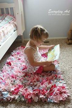 Haz una alfombra única con retazos de tela   22 Ideas para decorar tu casa de forma: fácil, bonita y barata