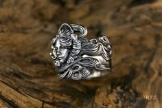 Lady Frower Nouveau Ring 925 Silver by justARTz on Etsy