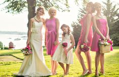 Coren Moore :: Brides & Maids  Peyton, Alex, and Courtney bridesmaid's dresses Classic flower girl dress Chloe bridal gown