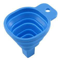 uxcell Home Practical Foldable Gadget Silicone Funnel Hopper Blue *** More info could be found at the image url. (Note:Amazon affiliate link) #HomeGadgets