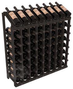 64 Bottle Display Top Wine Rack in Pine, Black Stain - contemporary - wine racks - by Wine Racks America